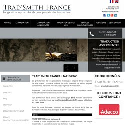 Traduction assermentee Paris - TRAD' SMITH FRANCE : traduction juridique, Boulogne Billancourt, Nanterre, Ile de France, traduction officielle, traduction pour avocat, traduction notaire