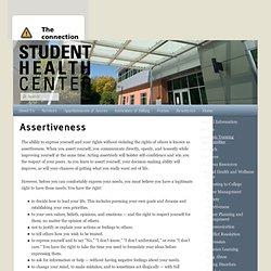 Assertiveness - healthcenter.ncsu.edu