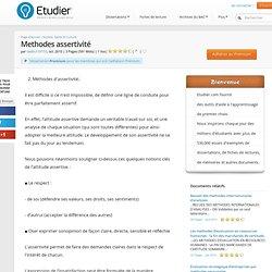 Methodes assertivité - Rapport de Stage - Dadou159753