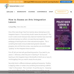 How to Assess an Arts Integration Lesson