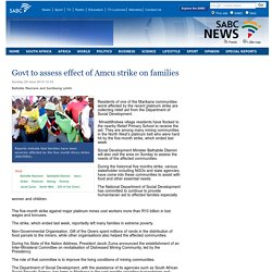 Govt to assess effect of Amcu strike on families:Sunday 29 June 2014
