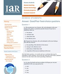 IAR: Assess students > Answer: Good/Poor fixed-choice questions