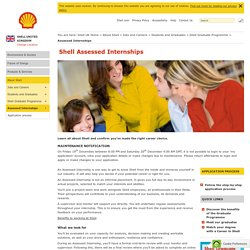 Shell Assessed Internships - Shell United Kingdom