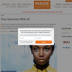 As AI-assessed job interviewing grows, colleges try to prepare students