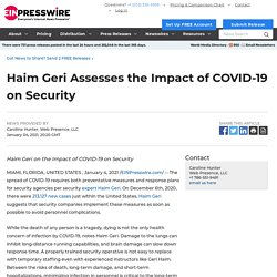 Haim Geri Assesses the Impact of COVID-19 on Security - EIN Presswire