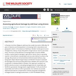 WILDLIFE SOCIETY BULLETIN 25/09/18 Assessing agricultural damage by wild boar using drones