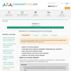 Chapter 3. Assessing Community Needs and Resources