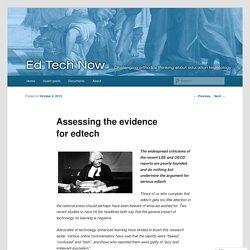 Assessing the evidence for edtech