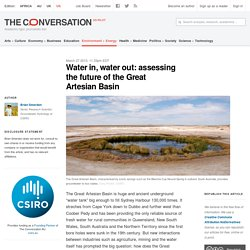 Water in, water out: assessing the future of the Great Artesian Basin
