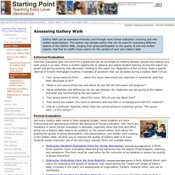 Assessing Gallery Walk