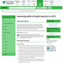 Assessing skills of adult learners in 2011