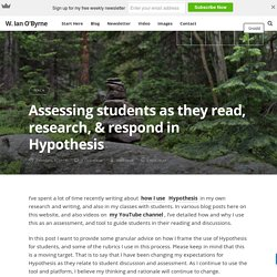 Assessing students as they read, research, & respond in Hypothesis