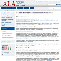 Selected outcomes assessment resources