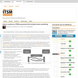 How to conduct an ITSM assessment that actually means something