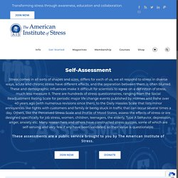 Self-Assessment - The American Institute of Stress
