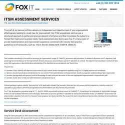 ITSM assessment Services - ITIL and ISO 20000 Assessments