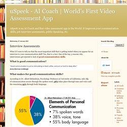 World's First Video Assessment App: Interview Assessments