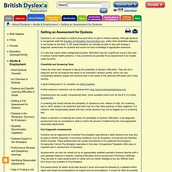 Getting an Assessment for Dyslexia