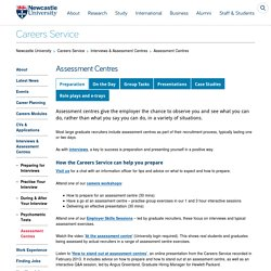 Assessment Centres - Careers Service