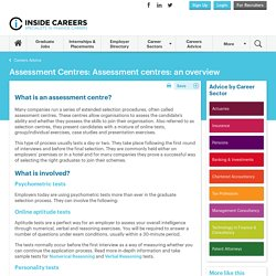 Assessment centres: an overview