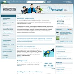 Assessment in the classroom / Home