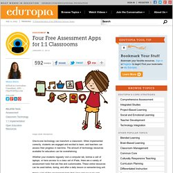 Four Free Assessment Apps for 1:1 Classrooms