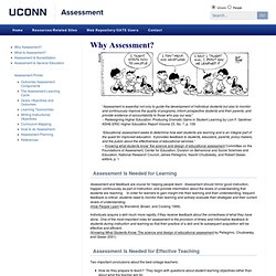 Why Assessment? › Assessment › University of Connecticut