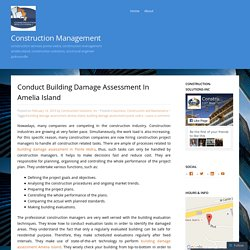 Conduct Building Damage Assessment In Amelia Island