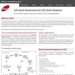 Life Cycle Assessment (LCA) consultancy & training, EuGeos