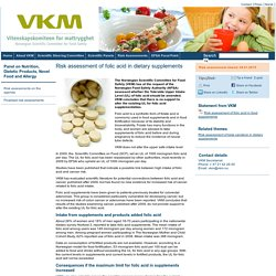 VKM_NO 29/01/15 Risk assessment of folic acid in dietary supplements