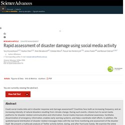 Rapid assessment of disaster damage using social media activity