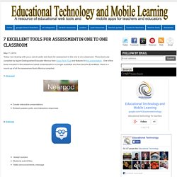 Educational Technology and Mobile Learning: 7 Excellent Tools for Assessment in One to One Classroom