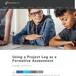 Using a Project Log as a Formative Assessment