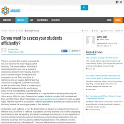 Do you want to assess your students efficiently?