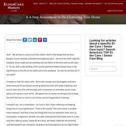 A 4-Step Assessment to De-Cluttering Your Home - ElderCareMatters.com