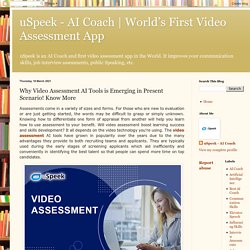 Why Video Assessment AI Tools is Emerging in Present Scenario! Know More