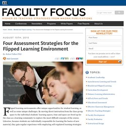 Four Assessment Strategies for the Flipped Learning Environment