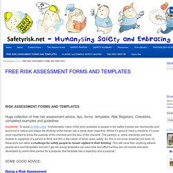 RISK ASSESSMENT FORMS AND TEMPLATES – Free!