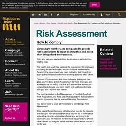 theMU - Risk Assessment for Freelance or Self-employed Members
