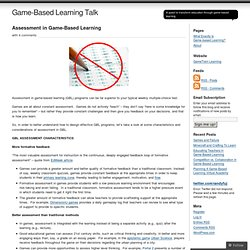 Assessment in Game-Based Learning « Game-Based Learning Talk