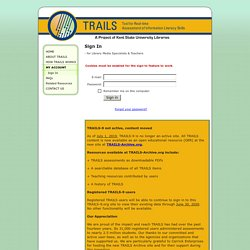 TRAILS: Tool for Real-time Assessment of Information Literacy Skills