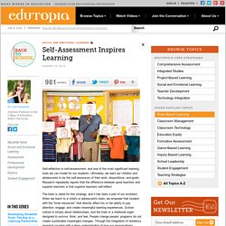 Self-Assessment Inspires Learning