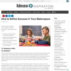 Maker Education Assessment — Defining Success in Your Makerspace