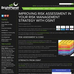 Improving Risk Assessment in Your Risk Management Strategy with OSINT