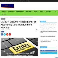 DMBOK Maturity Assessment For Measuring Data Management Maturity