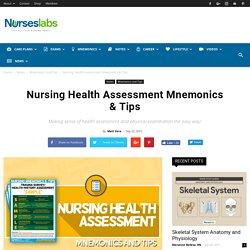 Nursing Health Assessment Mnemonics & Tips