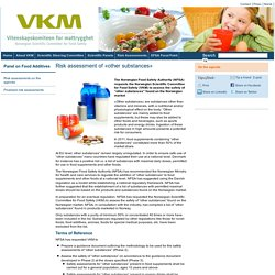 VKM_NO 18/05/15 Risk assessment of «other substances»