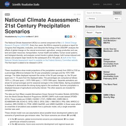 National Climate Assessment: 21st Century Precipitation Scenarios
