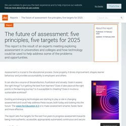 The future of assessment: five principles, five targets for 2025