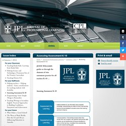 Journal of Professional Learning
